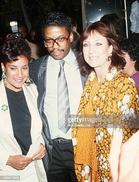 Musician Herbie Hancock wife Gigi Hancock and daughter Jessica Hancock attend the premiere of Jo Jo Dancer on April 29 1986 at the Academy Theater in...