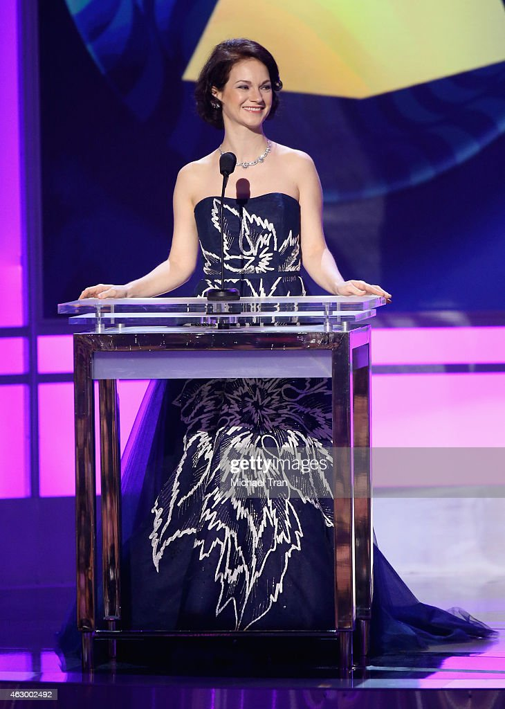 Musician Hilary Hahn speaks onstage during The 57th Annual GRAMMY Awards premiere ceremony at STAPLES Center on February 8, 2015 in Los Angeles, California.