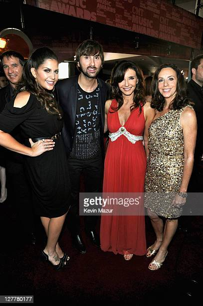 Musician Hillary Scott musician Dave Haywood actress Mary Steenburgen and guest attend the 2011 CMT Music Awards at the Bridgestone Arena on June 8...