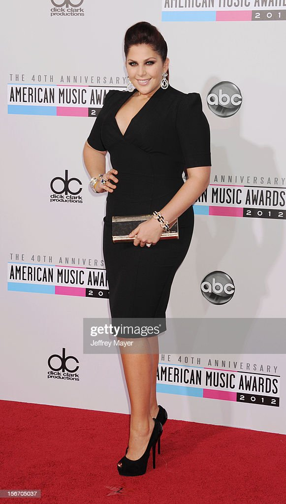 Musician Hillary Scott of Lady Antebellum attends the 40th Anniversary American Music Awards held at Nokia Theatre L.A. Live on November 18, 2012 in Los Angeles, California.