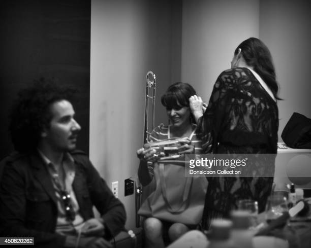 """Musician Holland Greco backstage before the Zappa Records release of her album """"Volume 1"""" on the roof of the Andaz Hotel, formerly the Riot House, on..."""