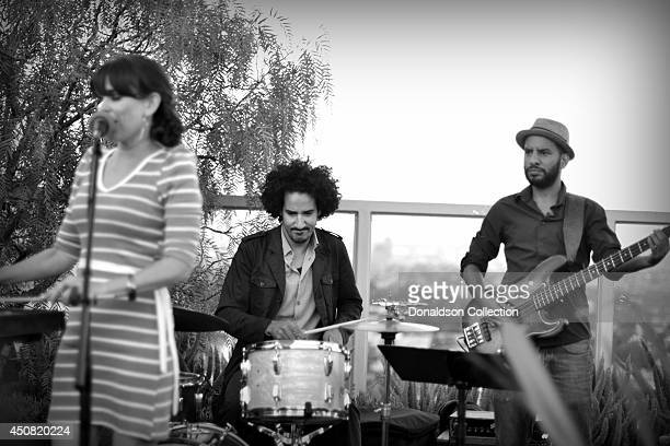 """Musician Holland Greco performs with her band for the Zappa Records release of her album """"Volume 1"""" on the roof of the Andaz Hotel, formerly the Riot..."""