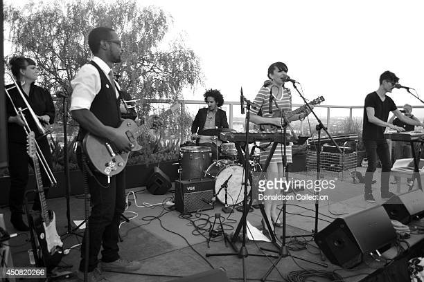 Musician Holland Greco performs with her band including Elizabeth Lea on trombone, Jordan Katz on trumpet and Clark Dark on the guitar for the Zappa...