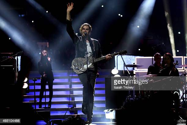 Musician Hozier performs on stage at WE Day Toronto at the Air Canada Centre on October 1, 2015 in Toronto, Canada.