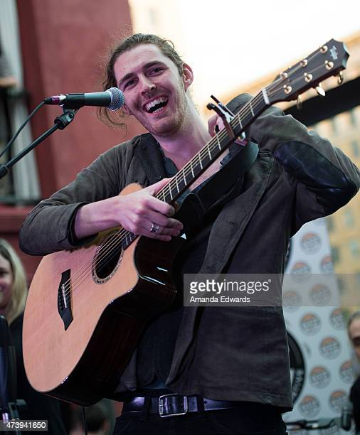 Musician Hozier performs on the exclusive ALT 987FM stage at The Redbury Hotel on May 18 2015 in Hollywood California