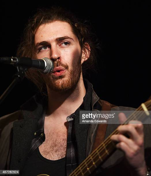 Musician Hozier performs onstage at the ALT 987 Penthouse Party at The Historic Hollywood Tower on October 15 2014 in Hollywood California
