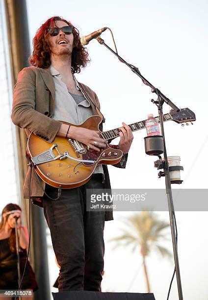 Musician Hozier performs onstage during day 2 of the 2015 Coachella Valley Music & Arts Festival at the Empire Polo Club on April 11, 2015 in Indio,...