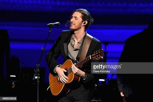 Musician Hozier performs onstage during the ONE Campaign and 's concert to mark World AIDS Day celebrate the incredible progress that's been made in...