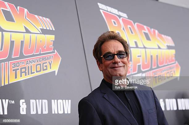 Musician Huey Lewis attends the Back to the Future reunion with fans in celebration of the Back to the Future 30th Anniversary Trilogy on Bluray and...
