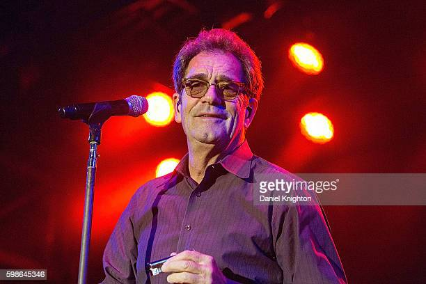 Musician Huey Lewis of Huey Lewis and The News performs on stage at Humphrey's on September 1 2016 in San Diego California