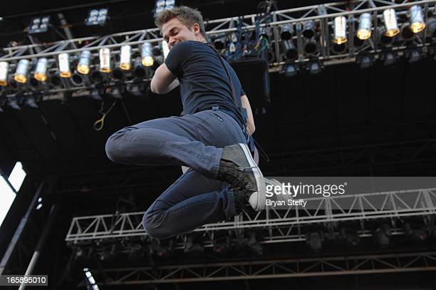 Musician Hunter Hayes performs during the 48th Annual Academy Of Country Music Awards Party for a Cause Festival at the Orleans Arena on April 6 2013...
