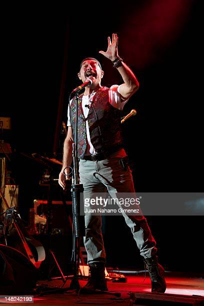 Musician Ian Anderson of Jethro Tull on stage performs during Veranos de la Villa 2012 at Teatro Circo Price on July 12 2012 in Madrid Spain