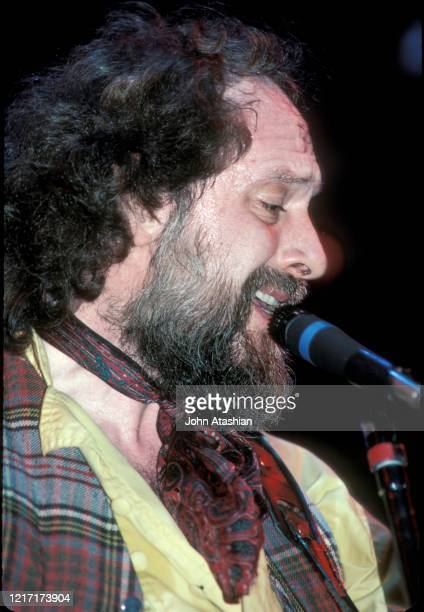 Musician Ian Anderson of the British rock band Jethro Tull is shown performing on stage during a live concert appearance on October 1 1984