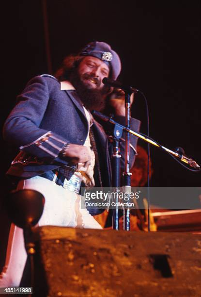 Musician Ian Anderson of the rock and roll band Jethro Tull performs onstage in circa 1982 in Los Angeles California