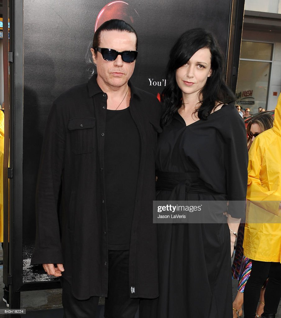 Musician Ian Astbury of the band The Cult and wife Aimee Nash attend the premiere of 'It' at TCL Chinese Theatre on September 5, 2017 in Hollywood, California.