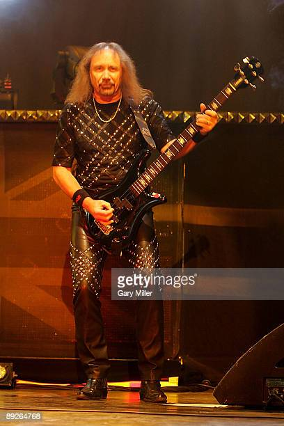 Musician Ian Hill of Judas Priest performs in concert at the ATT Center on July 25 2009 in San Antonio Texas