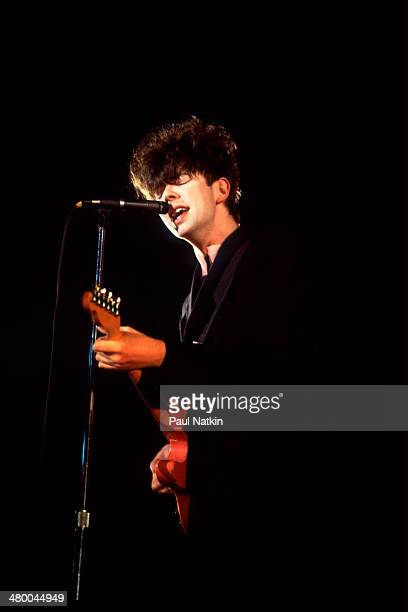 Musician Ian McCulloch of the band Echo and the Bunnymen performs onstage at the Aragon Ballroom Chicago Illinois April 9 1986