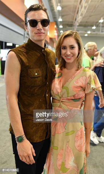 Musician Ian Mellencamp and Jazmin Grace Grimaldi attend the Summer NAMM Show Opening at Music City Center on July 13 2017 in Nashville Tennessee