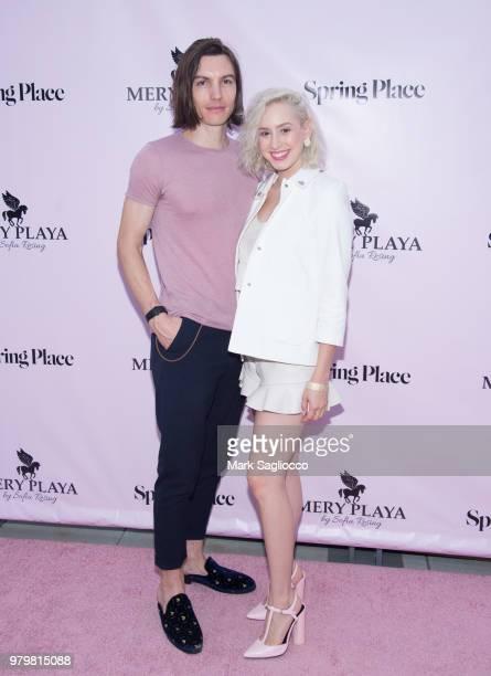 Musician Ian Mellencamp and Jazmin Grimaldi attend the Mery Playa Swimwear Launch on June 20 2018 in New York City
