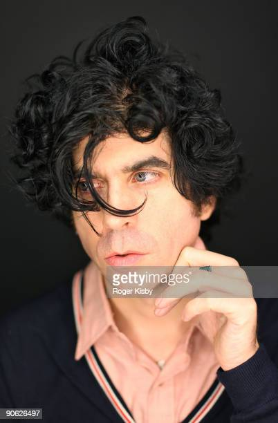 Musician Ian Svenonius poses for a portrait at ATP New York 2009 festival at the Kutsher's Country Club on September 11, 2009 in Monticello, New York.