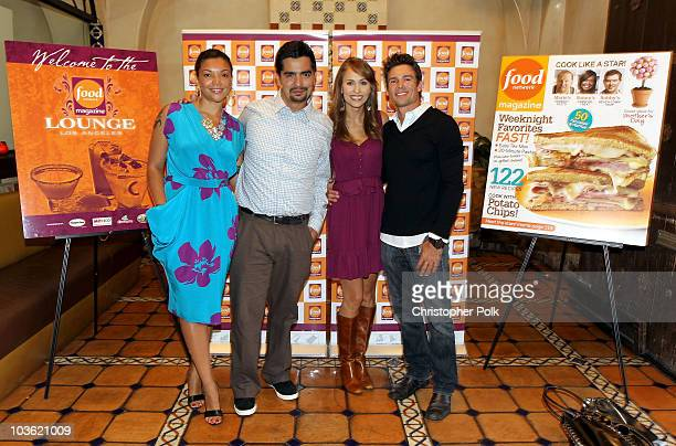 Musician Ife Mora Food Network Star Aaron Sanchez Danielle Demski and Food Network Host of Chefs Vs City Ethan Erickson at the Food Network Magazine...