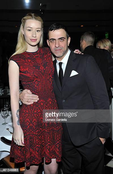 Musician Iggy Azalea and designer Antonio Berardi attend Private Antonio Berardi dinner on January 7 2014 in Beverly Hills California