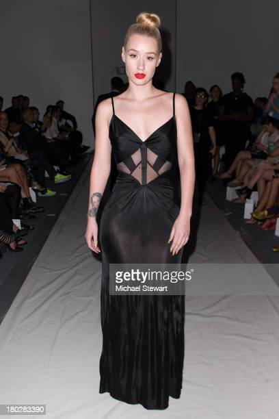 Musician Iggy Azalea attends the Alon Livne show during Spring 2014 MercedesBenz Fashion Week at The Studio at Lincoln Center on September 10 2013 in...