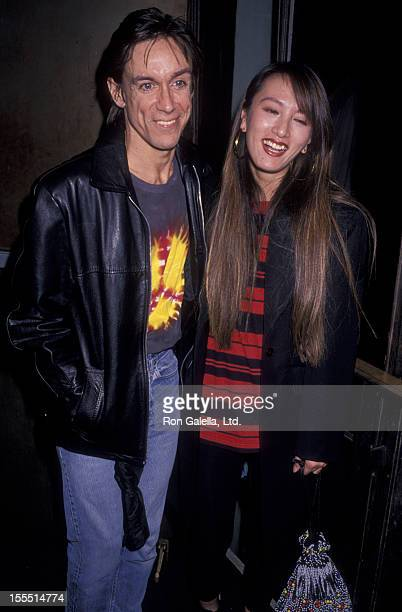 Musician Iggy Pop and Suchi Asano attend the premiere of Cry Baby on April 3 1990 at Club MK in New York City