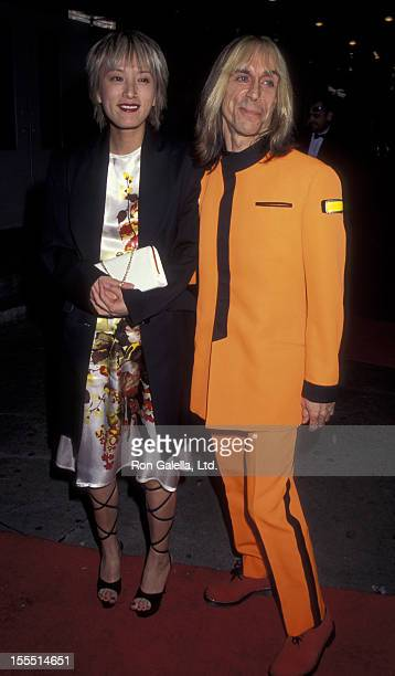 Musician Iggy Pop and wife Suchi Asano attend Sixth Annual New York Shakespeare Festival Benefit on September 18 1998 at the Manhattan Center in New...