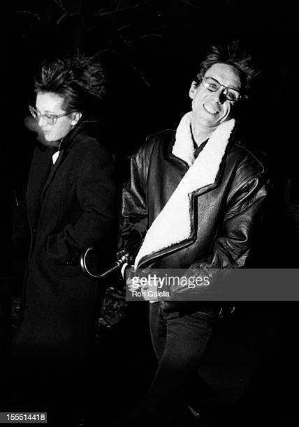 Musician Iggy Pop and wife Suchi Asano attend Thanksgiving Dinner Party on November 28 1985 at the China Club in New York City