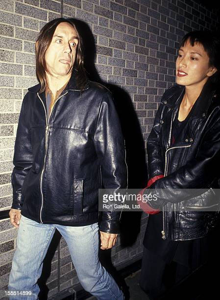 Musician Iggy Pop and wife Suchi Asano attend the screening of Serial Mom on April 4 1994 at the Museum of Modern Art in New York City
