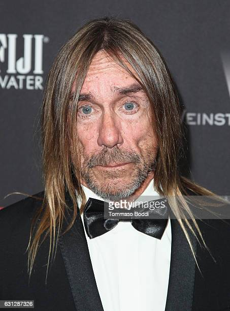 Musician Iggy Pop attends The Weinstein Company and Netflix Golden Globe Party presented with FIJI Water Grey Goose Vodka Lindt Chocolate and...
