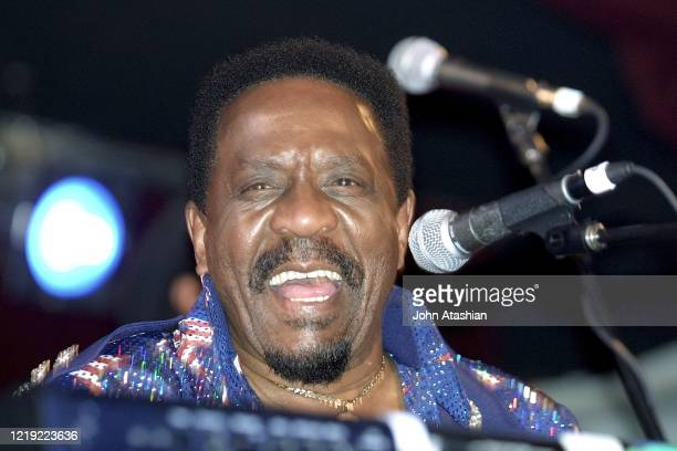 Musician Ike Turner is shown performing on stage during a live concert appearance on January 26 2002