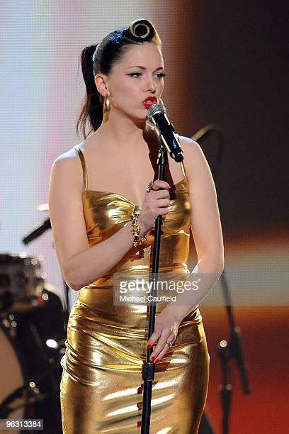 Musician Imelda May onstage at the 52nd Annual GRAMMY Awards held at Staples Center on January 31 2010 in Los Angeles California