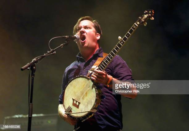Musician Isaac Brock of Modest Mouse performs onstage during day 1 of the 2013 Coachella Valley Music Arts Festival at the Empire Polo Club on April...