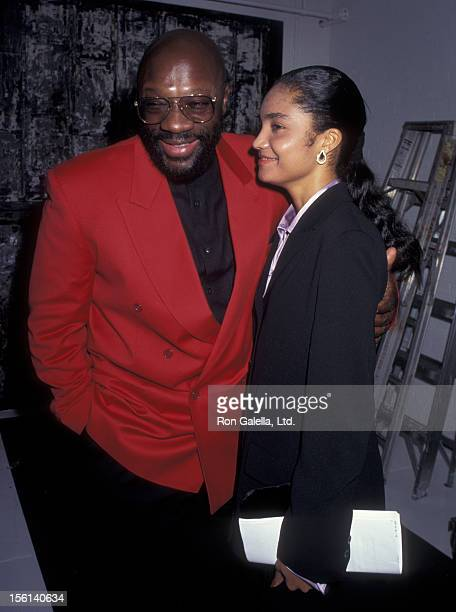 Musician Isaac Hayes and date Adjua Princess attend Children's Friends for Life Gala Benefiting AIDS on September 29 1995 at West 31st Street...