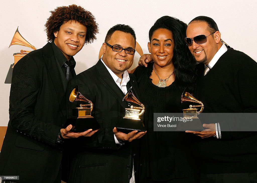 Musician Israel Houghton and members of Israel And New Breed