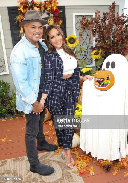 Musician Israel Houghton and Singer / TV Personality Adrienne Houghton visit Hallmark's Home Family at Universal Studios Hollywood on October 5 2018...