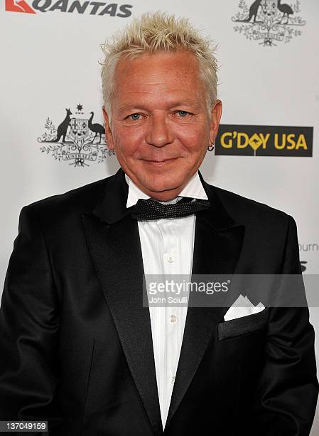 Musician Iva Davies arrives at the 9th Annual G'Day USA Los Angeles Black Tie Gala at the Hollywood & Highland Grand Ballroom on January 14, 2012 in...