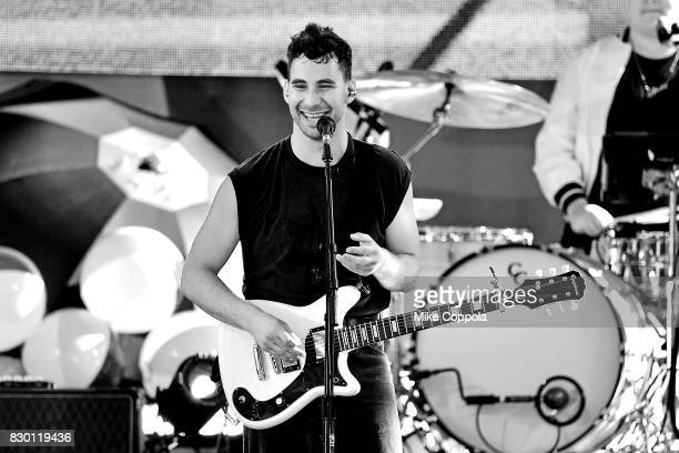 Musician Jack Antonoff of Bleachers performs on ABC's 'Good Morning America' at Rumsey Playfield on August 11 2017 in New York City