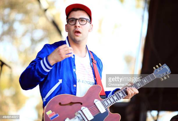 Musician Jack Antonoff of Bleachers performs onstage during the 22nd Annual KROQ Weenie Roast at Verizon Wireless Music Center on May 31, 2014 in...