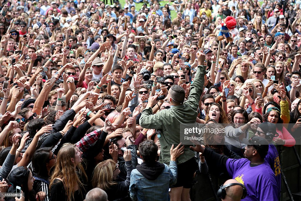 Musician Jack Antonoff of the band Bleachers performs at the Twin Peaks Stage during day 1 of the 2014 Outside Lands Music and Arts Festival at Golden Gate Park on August 8, 2014 in San Francisco, California.