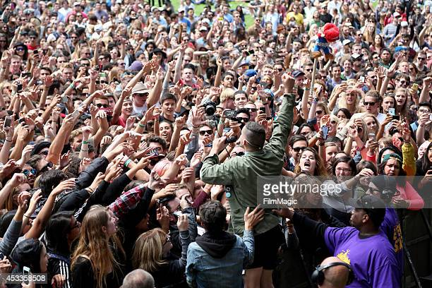 Musician Jack Antonoff of the band Bleachers performs at the Twin Peaks Stage during day 1 of the 2014 Outside Lands Music and Arts Festival at...