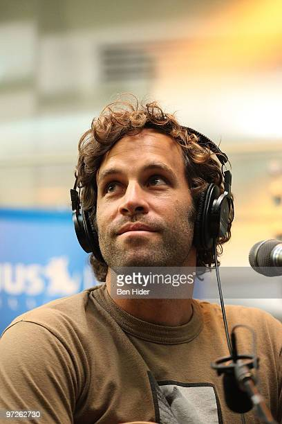 Musician Jack Johnson performs on SIRIUS XM Studio on March 1 2010 in New York City