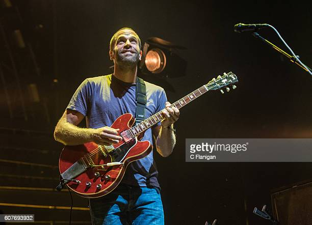 Musician Jack Johnson performs on the Sunset Cliffs Stage during the 2016 KAABOO Del Mar at the Del Mar Fairgrounds on September 18 2016 in Del Mar...