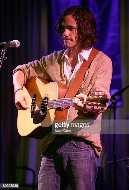 Musician Jack Savoretti performs at the Tribeca ASCAP Music Lounge held at the Canal Room during the 2008 Tribeca Film Festival on May 1, 2008 in New...
