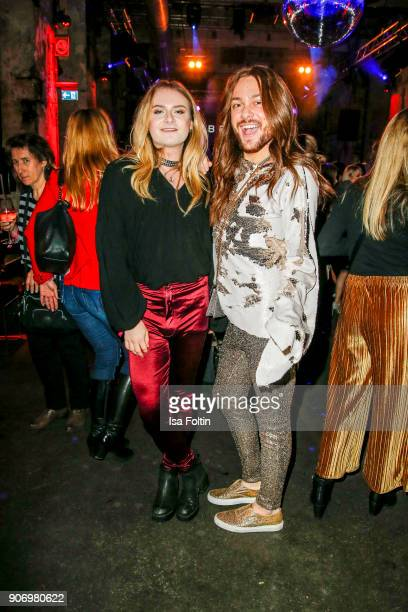 Musician Jack Strify and influencer Riccardo Simonetti during the Maybelline Show 'Urban Catwalk Faces of New York' at Vollgutlager on January 18...