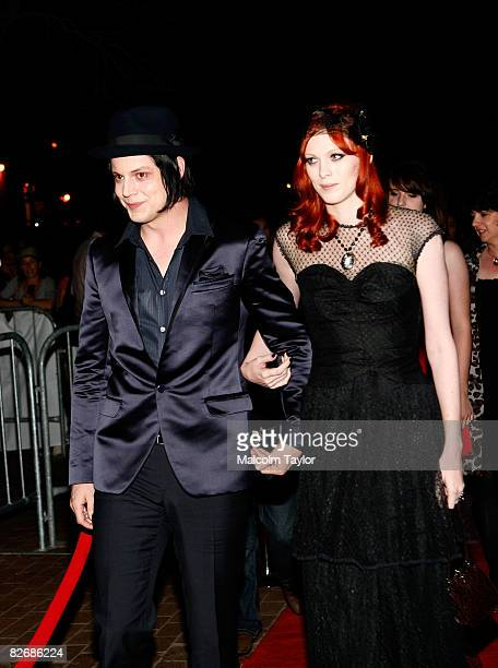 Musician Jack White and wife model Karen Elson attend the premiere of It Might Get Loud during the 2008 Toronto International Film Festival held at...