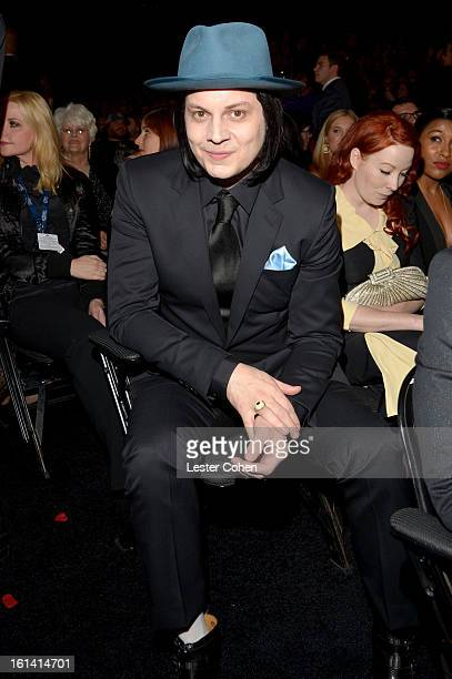 Musician Jack White attends the 55th Annual GRAMMY Awards at STAPLES Center on February 10 2013 in Los Angeles California
