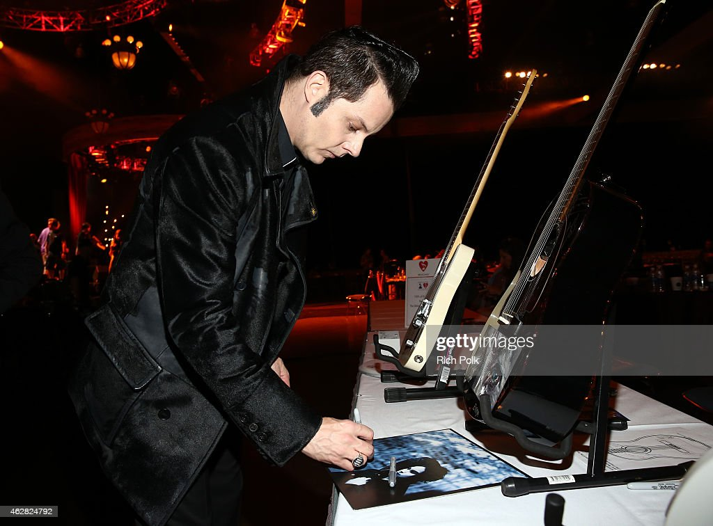 Musician Jack White attends the Auction Signings at MusiCares Person of the Year during The 57th Annual GRAMMY Awards at the Los Angeles Convention Center on February 5, 2015 in Los Angeles, California.